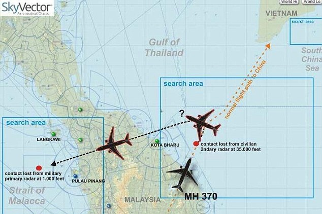 mh370 map