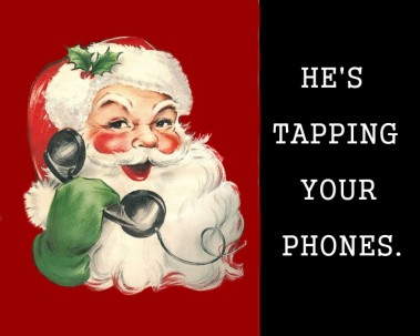 Santa tapping your phones