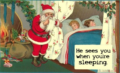 Santa watching you