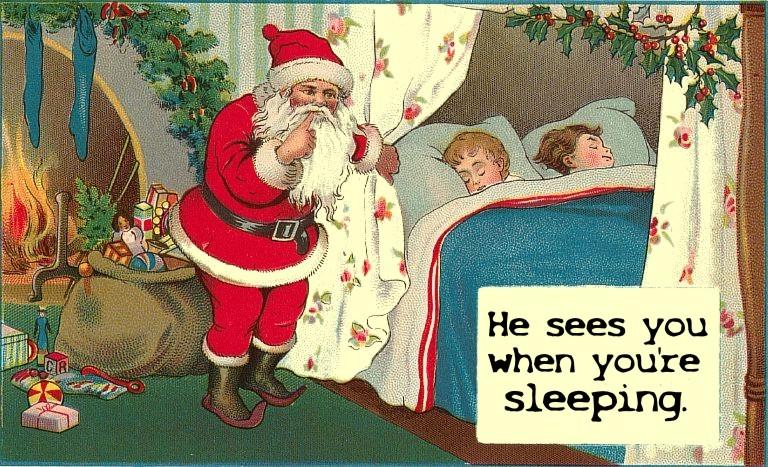 Santa watching you